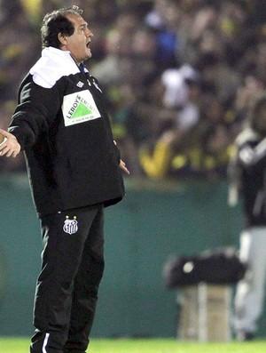 Muricy Ramalho na partida do Santos contra o Peñarol (Foto: Reuters)