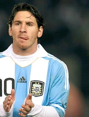 Messi no amistoso da Argentina contra a Albânia (Foto: Reuters)