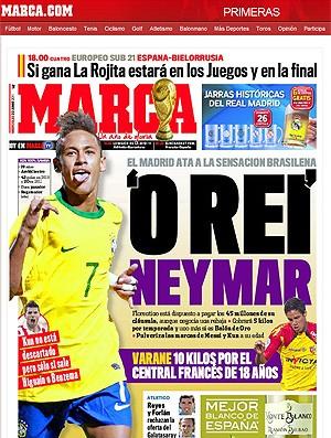 Neymar Barcelona Marca (Foto: Reprodução / Marca)