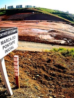 obras estádio corinthians (Foto: Marcos Ribolli / Globoesporte.com)