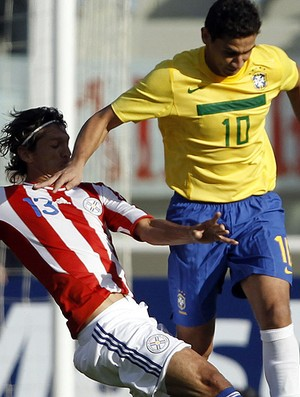 ganso brasil enrique vera paraguai copa américa (Foto: Agência EFE)