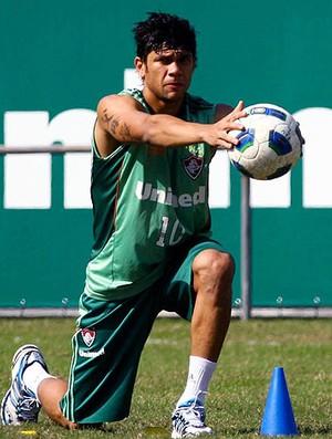 Ciro no treino do Fluminense (Foto: Agência Photocâmera)