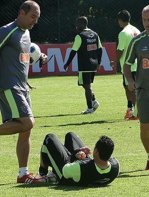 daniel carvalho e dorival junior atlético-mg treino (Foto: Lucas Catta Prêta / Globoesporte.com)