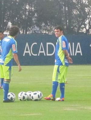 kleber treino palmeiras (Foto: Diego Ribeiro/Globoesporte.com)