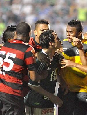 Kleber confusão Palmeiras x Flamengo (Foto: Ag. Estado)