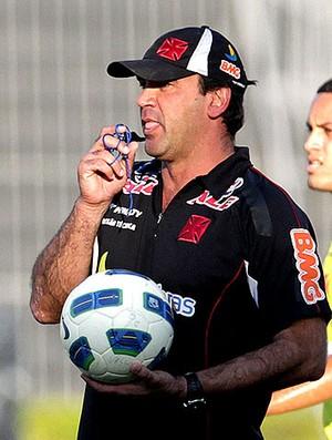 Ricardo Gomes no treino do Vasco (Foto: Marcelo Sadio / Site Oficial do Vasco)