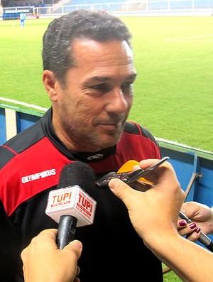 Luxemburgo no treino do Flamengo em Macaé (Foto: Janir Junior / Globoesporte.com)