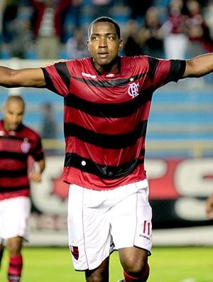 Renato comemora gol do Flamengo contra o Ceará (Foto: Ag. Estado)
