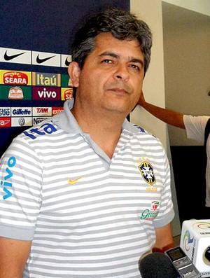 Ney Franco na coletiva da Seleção sub-20 (Foto: Victor Canedo / Globoesporte.com)