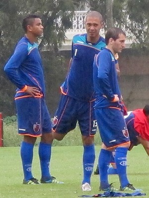 David, Jean e Bottinelli treino Flamengo (Foto: Richard Souza / Globoesporte.com)