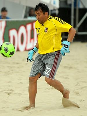 Futebol de areia Venezuela (Foto: Diego Mendes / CBBS)