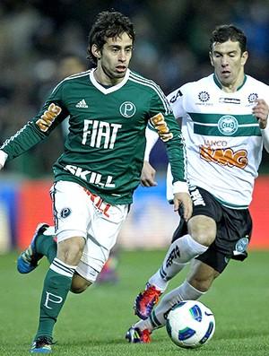 valdívia Palmeiras Leandro Donizete Coritiba (Foto: Ag. Estado)