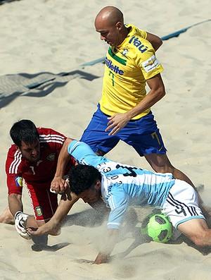 futebol de areia sidney brasil argentina (Foto: Agência EFE)