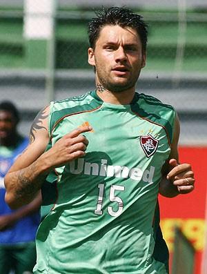 Rafael Sobis no treino do Fluminense (Foto: Photocâmera )