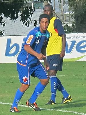 Ronaldinho Gaúcho no treino do Flamengo (Foto: Richard Souza / Globoesporte.com)