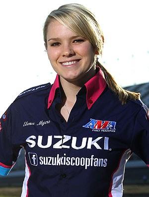 Elena Myers, piloto de moto (Foto: Divulgação)
