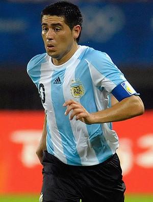 Riquelme na seleção da Argentina (Foto: Getty Images)