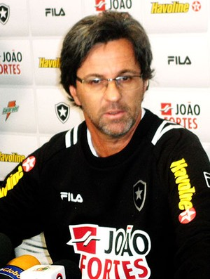 Caio Junior durante entrevista do Botafogo (Foto: Marcelo Baltar / Globoesporte.com)