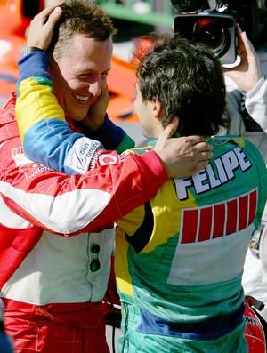 Schumacher e Massa no GP Brasil de 2006 (Foto: Getty Images)