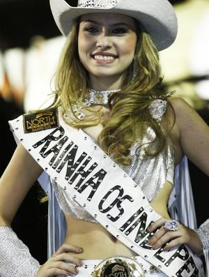 Rainha Eloiza Moreira na Festa do Peão de Barretos (Foto: Leandro Nascimento)