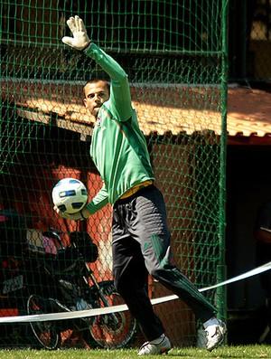 Diego Cavalieri no treino do Fluminense (Foto: Ralff Santos / Fluminense F.C)