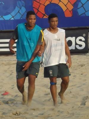 Beach Soccer - Souza no treino da seleção (Foto: Igor Christ/Globoesporte.com)