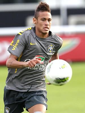 Neymar no treino da Seleção (Foto: Mowa Press)