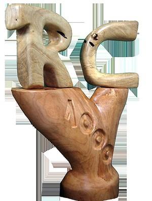 escultor Itelvino Jahn cria obra para Rogério Ceni (Foto: Divulgação)