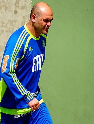 Marcos no treino do Palmeiras (Foto: Marcos Ribolli / GLOBOESPORTE.COM)