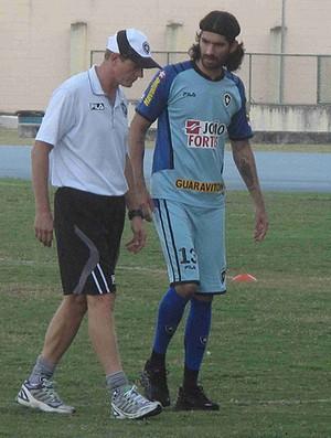 Loco Abreu no treino do Botafogo  (Foto: Rafael Cavalieri/Globoesporte.com)