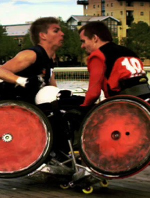 Rúgbi de cadeira de rodas, SporTV Repórter 2 (Foto: Reprodução SporTV)