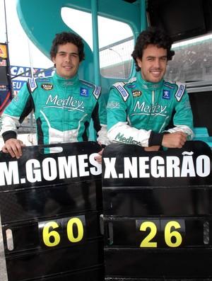 Marcos Gomes e Xandinho Negrão na Stock Car em Brasília (Foto: Miguel Costa Jr./ Divulgação)