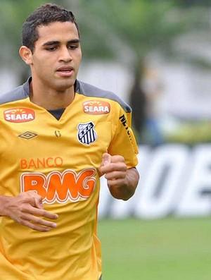 Alan Kardec, em treino do Santos (Foto: divulgação/Santos FC)