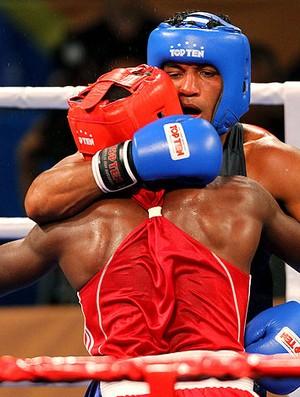 Yamaguchi na luta de boxe do Pan (Foto: Jefferson Bernades / Vipcomm)