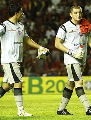 Gideão e Rodrigo Carvalho, goleiros do Náutico (Foto: André Nery / Agência Náutico)