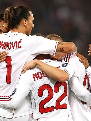 ibrahimovic milan gol roma (Foto: Agência Getty Images)