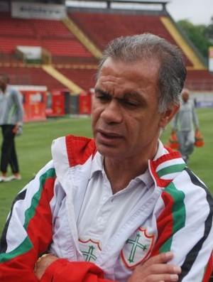 Jorginho no treino da Lusa (Foto: Marcos Guerra/ Globoesporte.com)