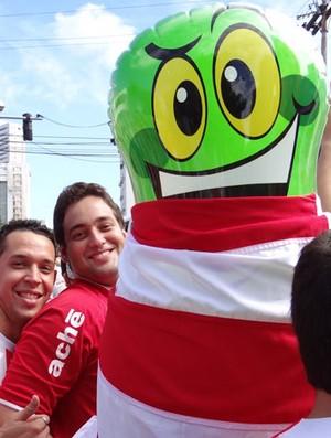 Torcida Náutico (Foto: Elton de Castro/GloboEsporte.com)