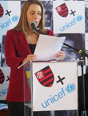 patricia amorim flamengo unicef (Foto: Richard Souza / Globoesporte.com)