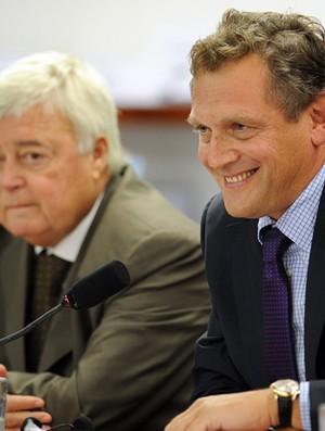 Sessão da Câmara com Ricardo Teixeira e Jérôme Valcke (Foto: AFP)
