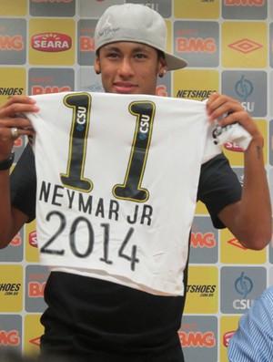 Neymar em coletiva no Santos (Foto: Adilson Barros/Globoesporte.com)