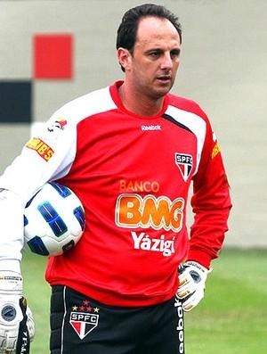 Rogério Ceni no treino do São Paulo (Foto: Luiz Pires / VIPCOMM)
