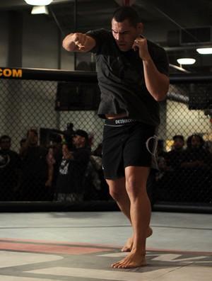 Cain Velásquez durante treino aberto para luta contra Júnior Cigano (Foto: Agência Getty Images)