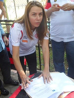 Patricia Amorim - Flamengo - Urubu Rei (Foto: Marcelo Baltar / Globoesporte.com)