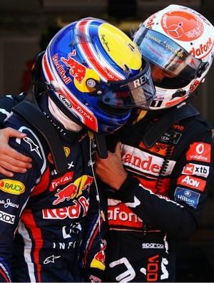 Button e Webber no GP de Monaco (Foto: Getty Images)