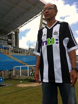 Mirandinha, ex-atacante de Fortaleza, Palmeiras e New Castle e atualmente t&#233;cnico de futebol (Foto: Diego Morais/Globoesporte.com)