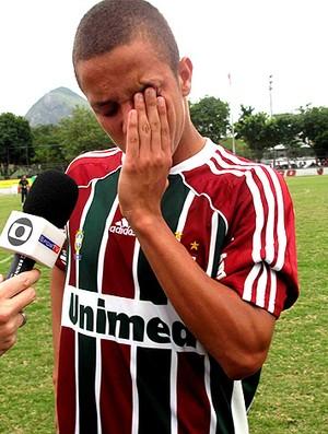 marcos júnior fluminense chora torneio OPG (Foto: Fábio leme / Globoesporte.com)