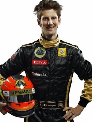 Romain Grosjean, novo titular da Lotus para a temporada 2012 da Fórmula 1 (Foto: Divulgação)