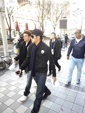 Neymar e Elano em passeio em Nagoya (Foto: Leandro Amaral)