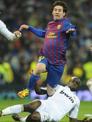 messi Sergio Ramos diarra real madrid x barcelona (Foto: AFP)